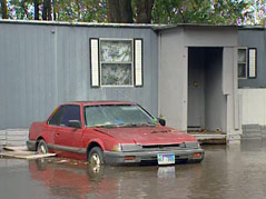 brookings flooding aftermath water mobile home park #092410