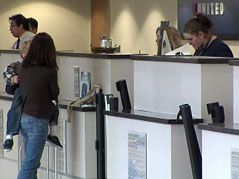 sioux falls airport ticket counter united record march numbers more travelers flying airlines
