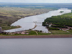 civil air patrol photo oahe dam missouri river