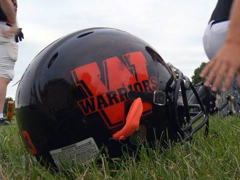 washington warriors football helmet high school
