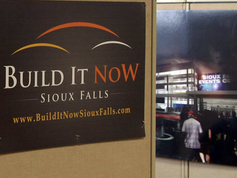 build it now sign events center campaign