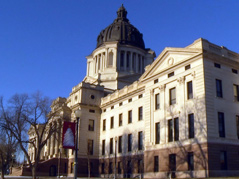 Pierre Capitol building legislature south dakota politics winter