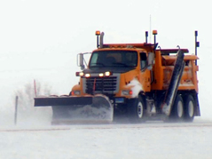 snow plow plowing interstate highway winter storm blizzard road conditions