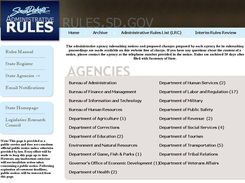 rules.sd.gov