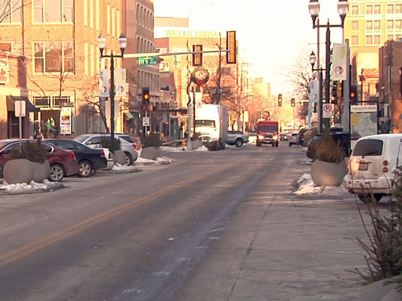 downtown sioux falls winter shopping
