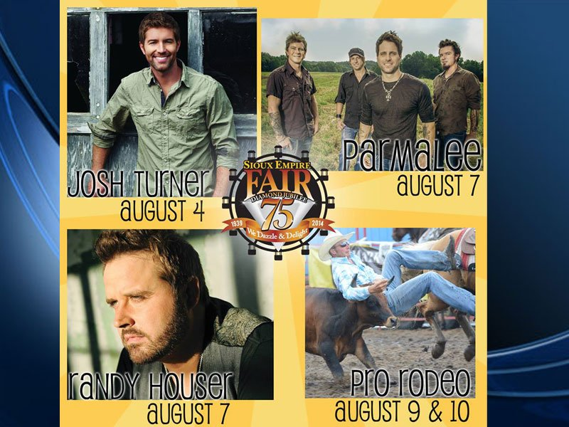 sioux empire fair concerts announced, 2014 acts