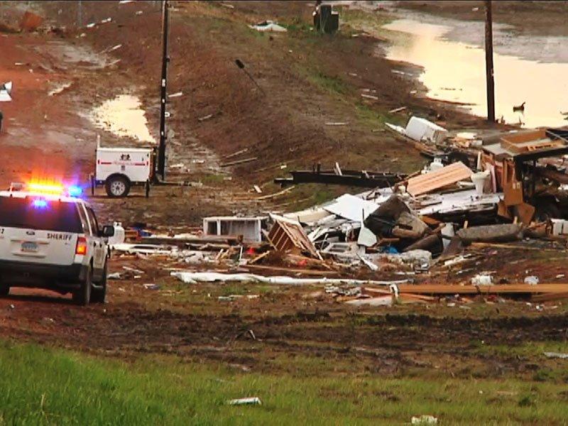 watford city, north dakota tornado damage EF-2