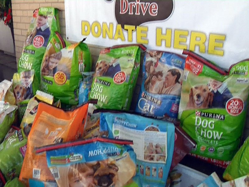 Pet food donations