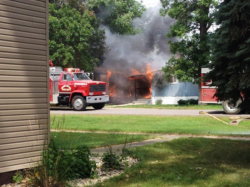 Castlewood mobile homes fire courtesy Mike Thu