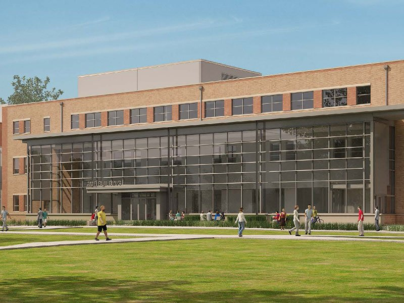 Architecture, Mathematics and Engineering Building rendering