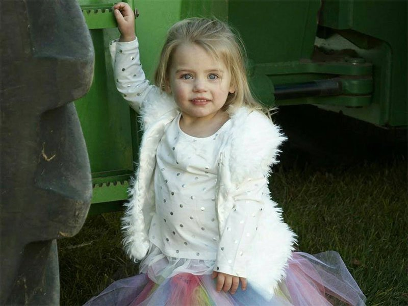 Gianna Apaline Wehrkamp two year old died from flu